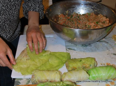 cabbage rolls recipe-stuffing cabbage rolls