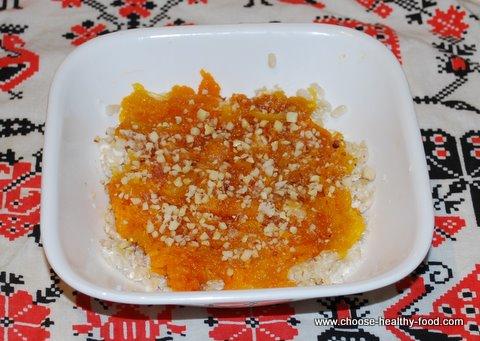 healthy breakfast food - brown rice squash cereal