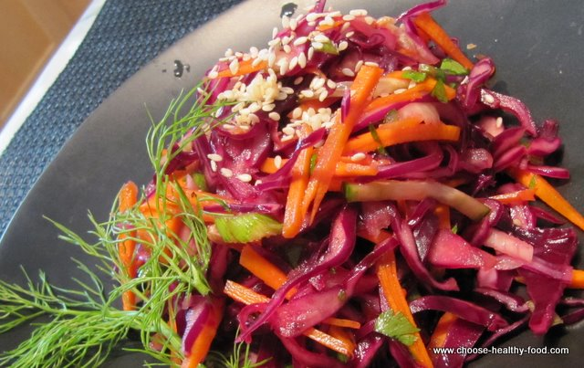 best cabbage recipes - red cabbage salad