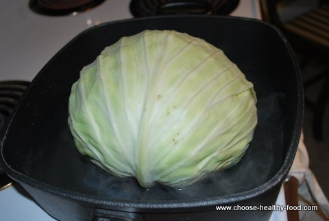 cabbage rolls recipe-grating onions with Borner slicer
