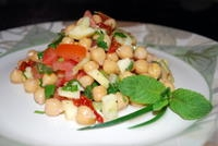 chick peas (garbanzo) salad