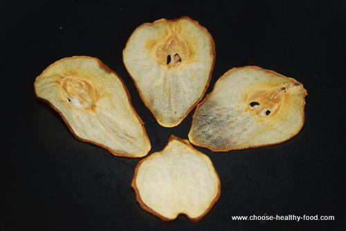 dehydrated fruit: pears