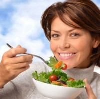 a woman making healthy food choices