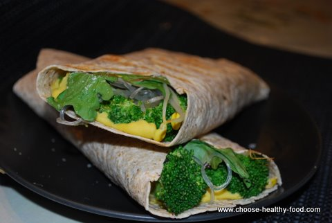 healthy snacks for teenagers - tortilla wraps