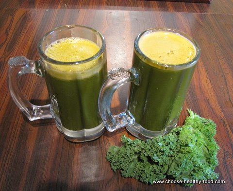 Tasty kale juice recipe with veggies