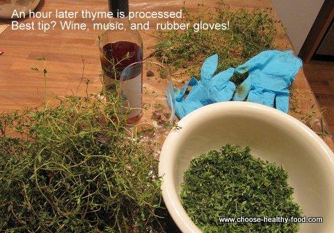 preparing mediterranean herb paste recipe