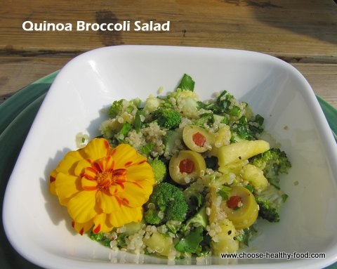 Quinoa broccoli salad
