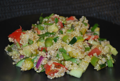 quinoa salad recipe with asparagus and zuccini