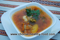 russian cabbage soup with veggies
