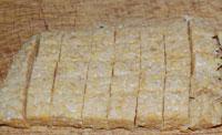 cut tempeh