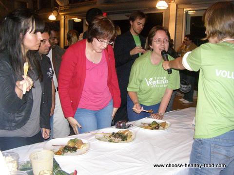 Testing vegan meals at the Toronto vegetarian food fair