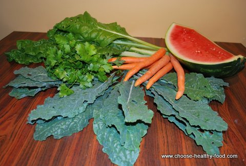 Kale Juice Recipe - ingredients