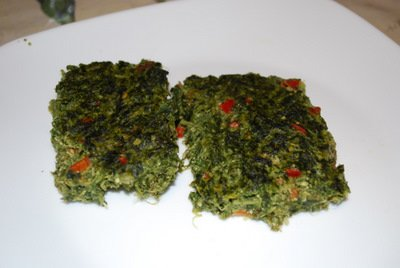 baked kale omelette high protein low fat