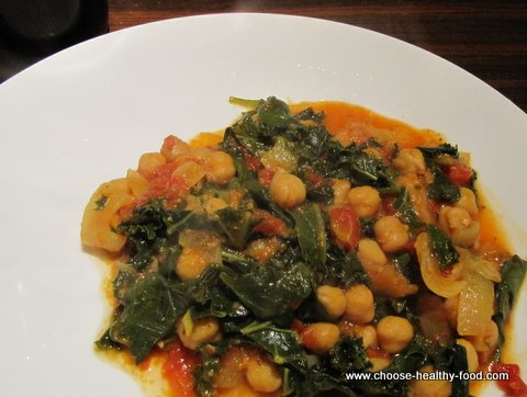 Chick pea curry recipe with kale