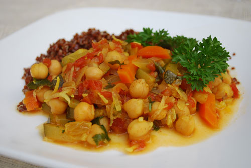 Moroccan chick pea stew recipe