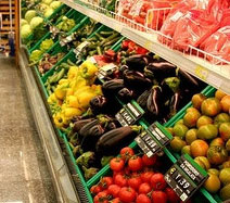 aisle with healthy food