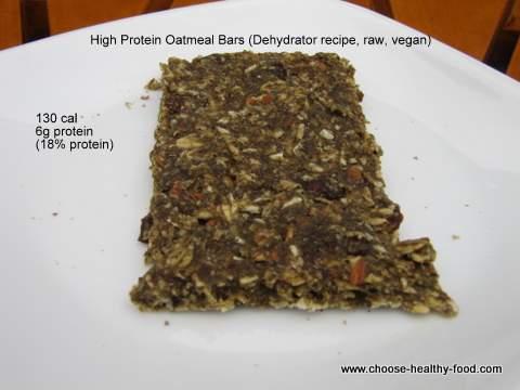 high protein oatmeal bar dehydrator recipe