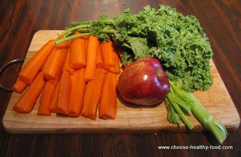 Kale Juice Recipe - ingredients